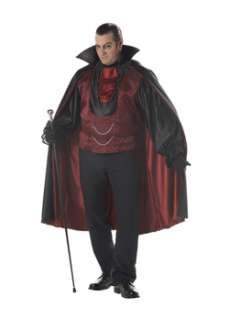 Count Bloodthirst Plus  Cheap Gothic/Vampire Halloween Costume for