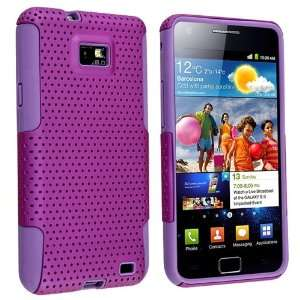 com Purple Mesh Snap on Case w/Silicone + FREE Anti Glare LCD Screen