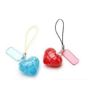 3d mini star / love heart crystal 3d puzzle with keychain Toys