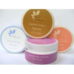 Five Senses Body Butter Set /Fresh Peach & Fig/Orchid Bloom/Almond