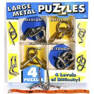 Chunky Metal Brain Teaser Puzzles _ Set of 5 Toys & Games