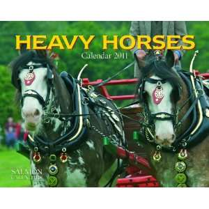 2011 Animal Calendars Heavy Horses   12 Month   24.8x19