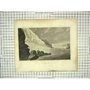 ANTIQUE PRINT VIEW NIAGARA FALLS RIVER CANADA ARCHER