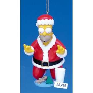 Homer Dressed As Santa With Cookie Christmas Ornament