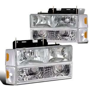 Gmc Full Size Truck Chrome Headlights, Bumper Lights
