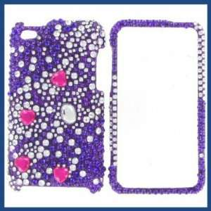 Apple iPod Touch 4 Full Diamond Purple Galaxies Protective Case