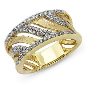 10k Two Tone Gold Diamond Ring 1/3ctw Jewelry