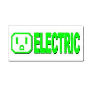 Electric Car   Window Bumper Sticker