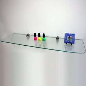 Deluxe 24 x 10 Clear Tempered Glass Shelf Kit with Stainless Steel