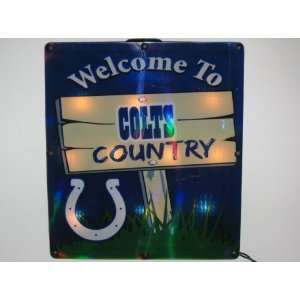 INDIANAPOLIS COLTS Team Logo LIGHTED INDOOR / OUTDOOR WINDOW SIGN (11