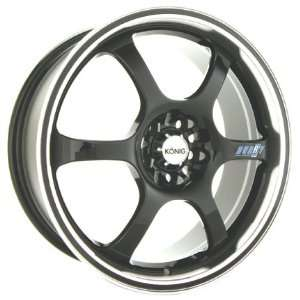 18x7.5 Konig Hurry (Gloss Black w/ Machined Lip) Wheels/Rims 4x114.3