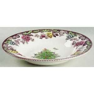 Spode Christmas Tree Grove Large Rim Soup Bowl, Fine China