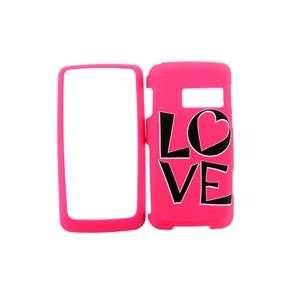 LG RUMOR TOUCH LN510 PINK LOVE HARD PLASTIC COVER CASE