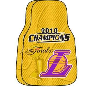 Los Angeles Lakers 2010 NBA Champions Carpet Car Mats