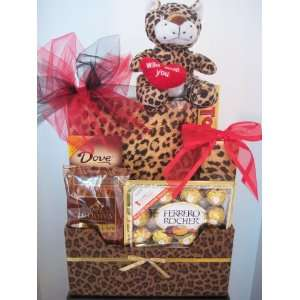 Valentines Day Gift Basket WILD ABOUT YOU at ABUNDANT