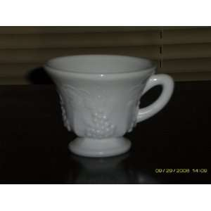 4 Indiana Milk Glass Harvest Grapes Cups