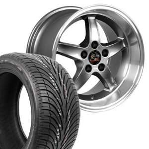 17 Fits Mustang (R) Cobra R Deep Dish Style Wheels tires