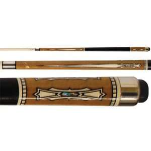 Series Brown with Sword Design Two Piece Pool Cue