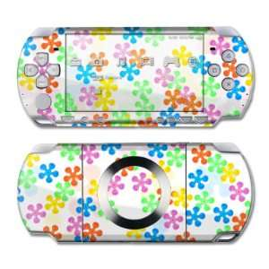 Flower Power Design Skin Decal Sticker for the PS3 Slim
