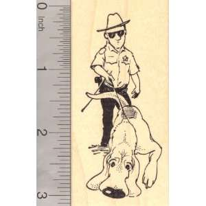 Bloodhound Trailing and Tracking, Search and Rescue Dog Rubber Stamp