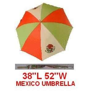 Mexico Mexican Flag Umbrella Golf Rain Large Outdoor