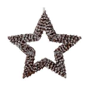 In The Birches White Pine Cone Star Christmas Ornament