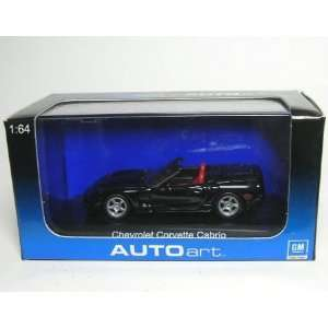 164 Scale Chevrolet Corvette Cabrio 1998 Black Diecast Car