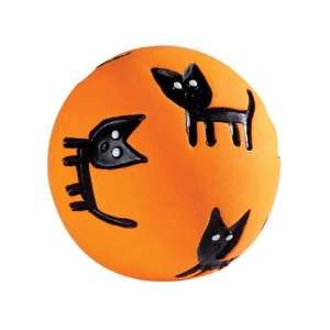 Grriggles Scary Squeakies Halloween Black Cat Latex Squeak