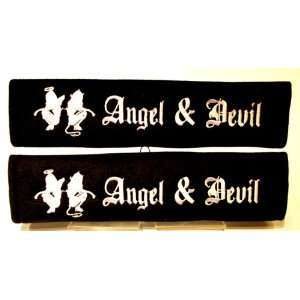 Angel Devil Skin Girl Seat Belt Shoulder Pad one Pair Automotive