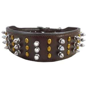 Spiked Sudded Dog Collar. Fits 19 22 Neck, Large