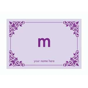 Personalized Stationery Note Cards with Corner Design and Monogram