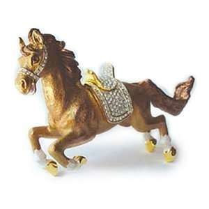 , Swarovski Crystal Galloping Horse Keepsake Box (Boxed) Jewelry