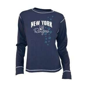 Old Time Hockey New York Rangers Womens Bianca Long Sleeve T shirt