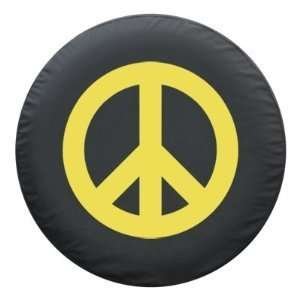 ® Brawny Series   Peace Sign YELLOW 35 Tire Cover Automotive
