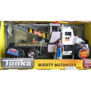 Tonka Mighty Motorized Roadside Service TOW TRUCK w Lights