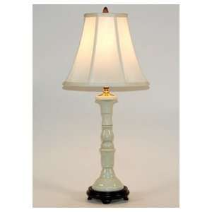 Traditional Creamy Ivory Slender Porcelain Column Table Lamp