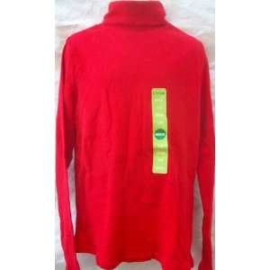 Red Turtle Neck, Boy or Girl Full Sleeves Shirt, Size Medium, 7 8