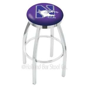 Northwestern Wildcats Logo Chrome Swivel Bar Stool Base