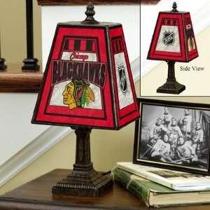 Memory Company Minnesota Wild Art Glass Table Lamp Sports