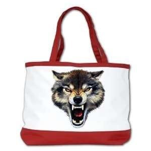 Shoulder Bag Purse (2 Sided) Red Wolf Bite Everything