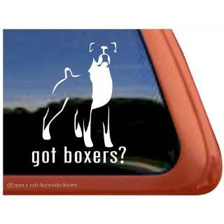 Love My Boxer Dog Vinyl Window Dog Decal Sticker
