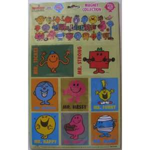 Mr Men Little Miss 9 Pieces on One Magnet Sheet