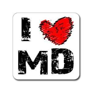 I Love Heart MD   MARYLAND   Window Bumper Laptop Sticker