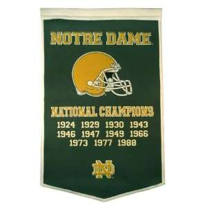 Notre Dame Fighting Irish  Football  Green Dynasty Banner