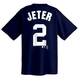 Derek Jeter New York Yankees Name and Number T Shirt
