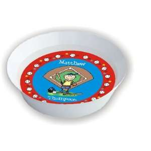 Pen At Hand Stick Figures   Melamine Bowls (Baseball