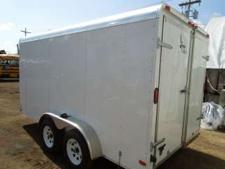 Trailer  Barn Doors New 2012 Lark 7x14 7k Enclosed Cargo Trailer  Barn