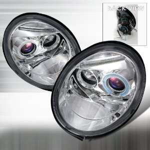 Volkswagen Beetle Projector Headlights   Chrome Blue Lens Automotive