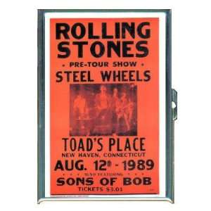 ROLLING STONES STEEL WHEELS CONCERT ID CREDIT CARD WALLET CIGARETTE