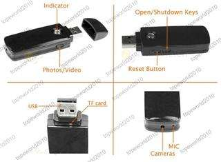 Mini A8 USB U Disk Spy Camera Video Recorder DVR DV ( motion detection